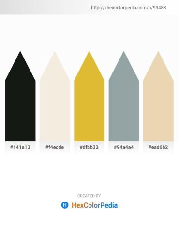 Palette image download - Dark Slate Gray – Beige – Goldenrod – Light Slate Gray – Pale Goldenrod