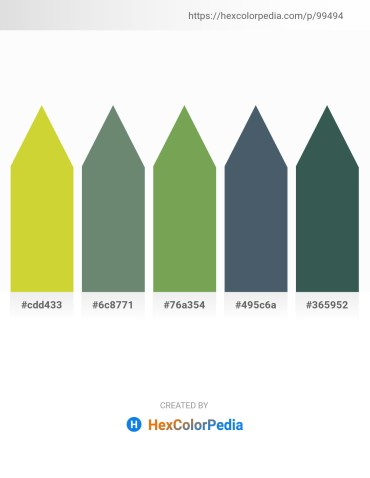 Palette image download - Yellow Green – Slate Gray – Dark Khaki – Dark Slate Gray – Dark Slate Gray