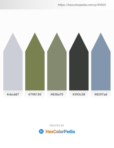 Palette image download - Light Steel Blue – Dark Olive Green – Gray – Dark Slate Gray – Light Slate Gray