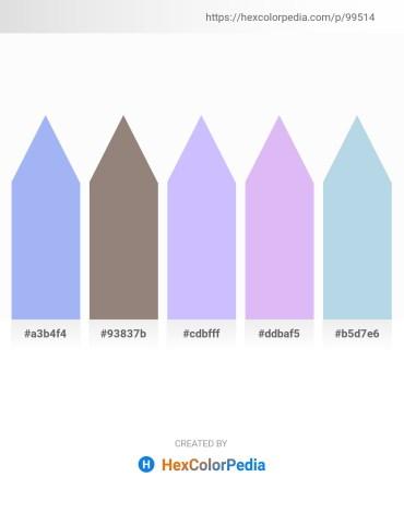 Palette image download - Sky Blue – Gray – Slate Gray – Lavender – Light Blue