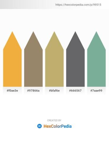 Palette image download - Sandy Brown – Gray – Dark Khaki – Slate Gray – Dark Sea Green
