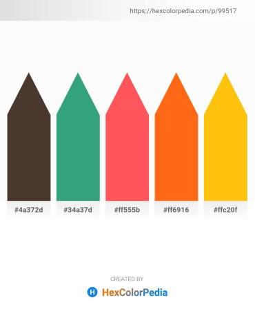 Palette image download - Dark Slate Blue – Medium Sea Green – Tomato – Orange Red – Gold