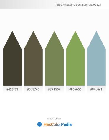 Palette image download - Dark Olive Green – Dark Olive Green – Dark Olive Green – Dark Khaki – Light Steel Blue