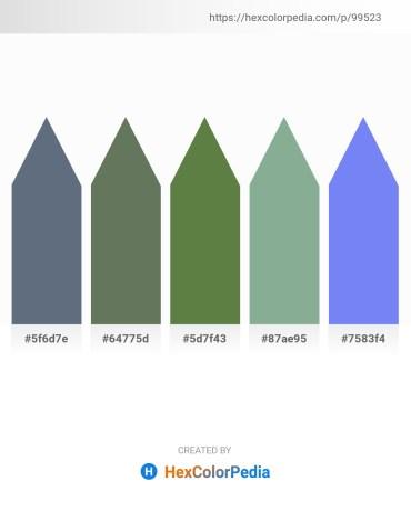 Palette image download - Slate Gray – Dim Gray – Dark Olive Green – Dark Sea Green – Medium Slate Blue