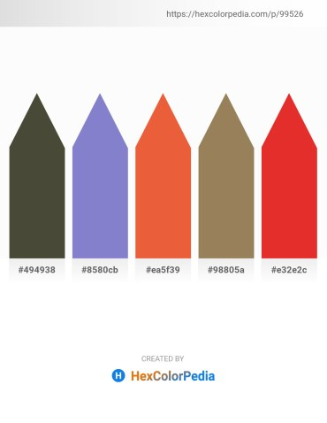 Palette image download - Dark Olive Green – Slate Blue – Chocolate – Dark Khaki – Crimson