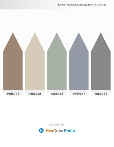 Palette image download - Rosy Brown – Tan – Dark Sea Green – Light Slate Gray – Slate Gray
