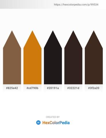 Palette image download - Sienna – Dark Goldenrod – Black – Khaki – Dim Gray