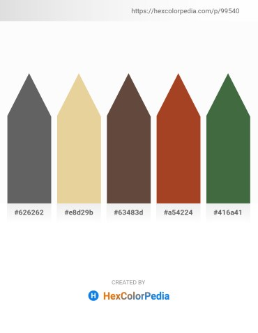 Palette image download - Dim Gray – Pale Goldenrod – Dark Gray – Brown – Dark Olive Green