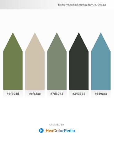 Palette image download - Dark Olive Green – Tan – Gray – Dark Slate Gray – Cadet Blue