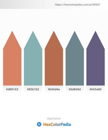 Palette image download - Indian Red – Cadet Blue – Indian Red – Slate Gray – Slate Gray