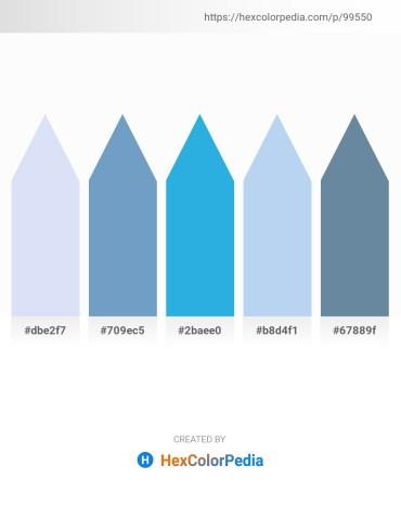 Palette image download - Lavender – Steel Blue – Light Slate Gray – Pale Turquoise – Cadet Blue