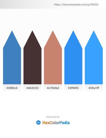Palette image download - Steel Blue – Dark Olive Green – Indian Red – Dodger Blue – Dodger Blue