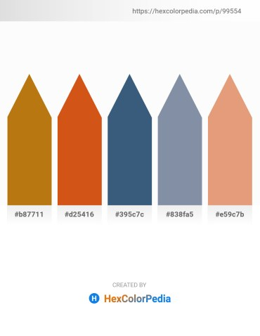 Palette image download - Dark Goldenrod – Chocolate – Dark Slate Blue – Light Slate Gray – Dark Salmon
