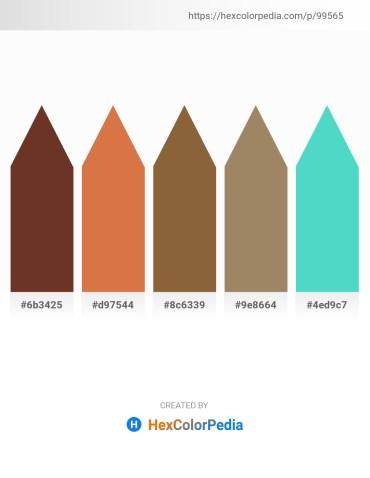 Palette image download - Sienna – Peru – Sienna – Rosy Brown – Medium Turquoise