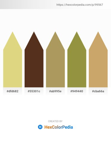 Palette image download - Burlywood – Pale Goldenrod – Dark Khaki – Dark Olive Green – Dark Khaki