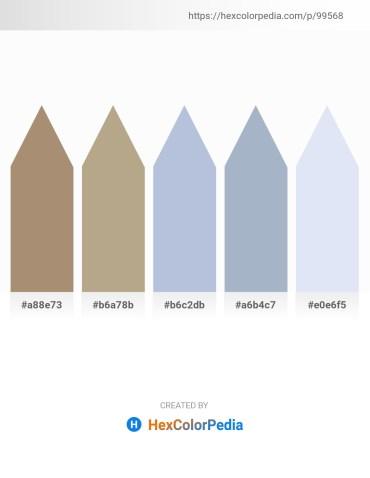 Palette image download - Rosy Brown – Dark Olive Green – Light Steel Blue – Light Steel Blue – Lavender