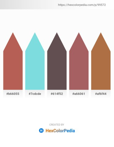 Palette image download - Indian Red – Sky Blue – Dim Gray – Rosy Brown – Sienna
