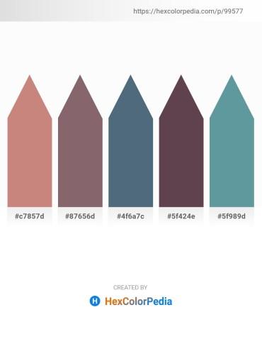Palette image download - Rosy Brown – Dim Gray – Slate Gray – Dim Gray – Cadet Blue