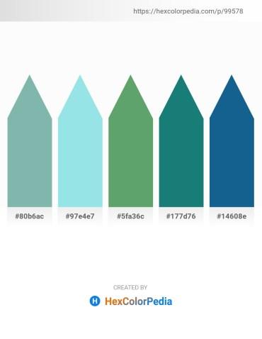 Palette image download - Cadet Blue – Pale Turquoise – Cadet Blue – Light Sea Green – Tan