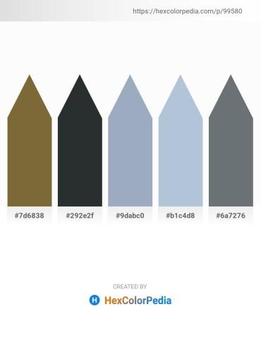 Palette image download - Dark Olive Green – Dark Slate Gray – Light Slate Gray – Light Steel Blue – Slate Gray