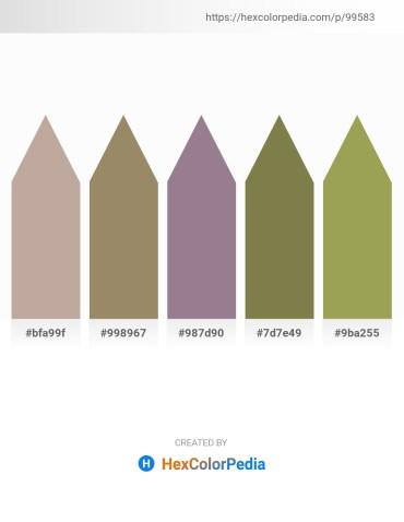 Palette image download - Rosy Brown – Black – Gray – Dark Olive Green – Dark Khaki