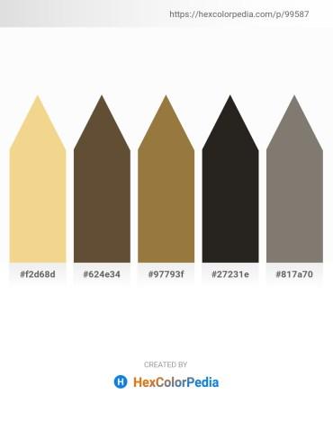 Palette image download - Khaki – Dark Slate Gray – Sienna – Black – Gray