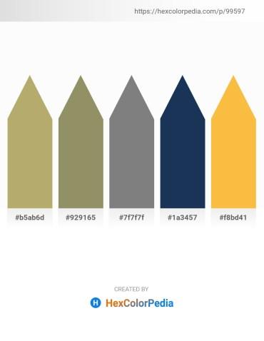 Palette image download - Dark Khaki – Gray – Gray – Midnight Blue – Sandy Brown