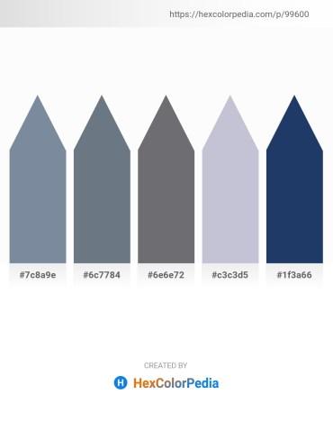 Palette image download - Light Slate Gray – Slate Gray – Slate Gray – Light Steel Blue – Midnight Blue