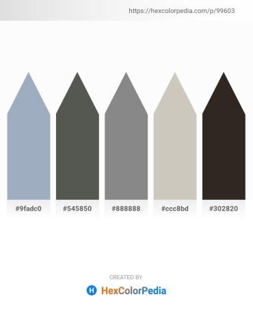 Palette image download - Light Slate Gray – Dim Gray – Gray – Silver – Black