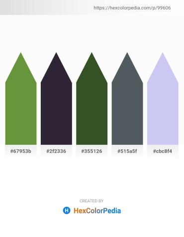 Palette image download - Dark Olive Green – Slate Blue – Dark Olive Green – Dark Slate Gray – Lavender