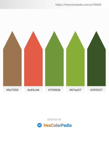 Palette image download - Sienna – Chocolate – Dark Olive Green – Yellow Green – Dark Olive Green