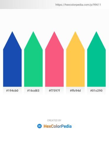 Palette image download - Royal Blue – Light Sea Green – Salmon – Sandy Brown – Dark Turquoise