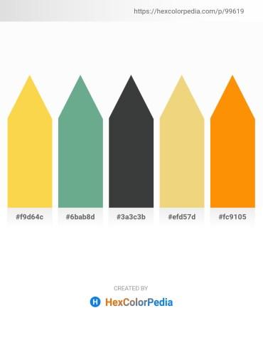 Palette image download - Gold – Cadet Blue – Dark Slate Gray – Khaki – Dark Orange
