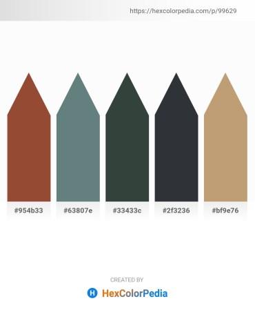 Palette image download - Sienna – Slate Gray – Dark Slate Gray – Dark Slate Gray – Dark Khaki