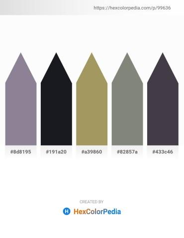 Palette image download - Light Slate Gray – Gray – Dark Khaki – Gray – Rosy Brown