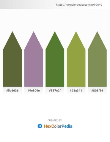 Palette image download - Dark Olive Green – Rosy Brown – Dark Olive Green – Yellow Green – Dark Olive Green