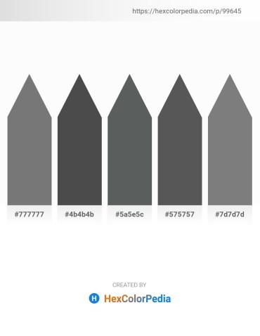 Palette image download - Gray – Dim Gray – Dark Slate Gray – Dim Gray – Gray