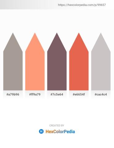 Palette image download - Dark Gray – Light Salmon – Dim Gray – Light Coral – Silver