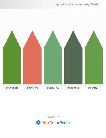 Palette image download - Olive Drab – Dark Salmon – Dark Sea Green – Dark Slate Gray – Dark Olive Green