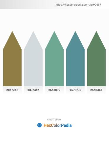Palette image download - Dark Olive Green – Light Steel Blue – Cadet Blue – Cadet Blue – Cadet Blue