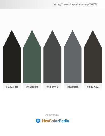 Palette image download - Black – Dark Slate Gray – Dark Slate Gray – Slate Gray – Dim Gray