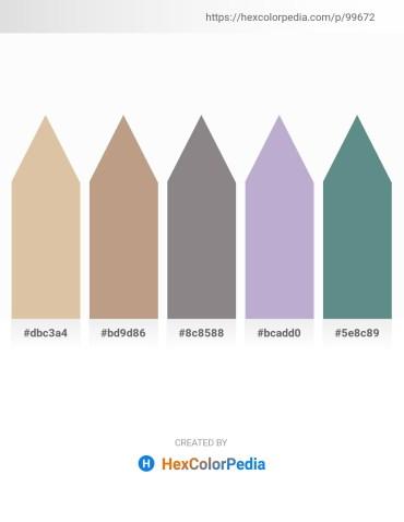 Palette image download - Tan – Rosy Brown – Gray – Light Steel Blue – Cadet Blue