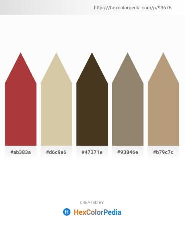 Palette image download - Brown – Tan – Tan – Gray – Rosy Brown