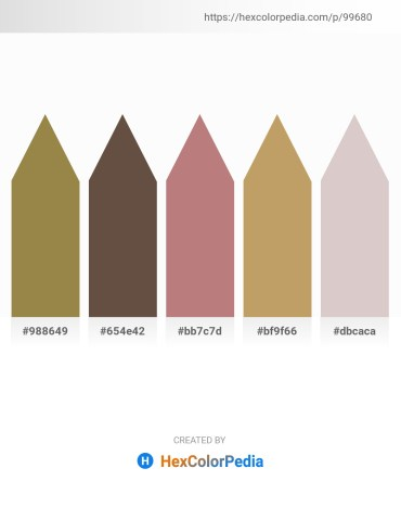 Palette image download - Dark Khaki – Dim Gray – Rosy Brown – Dark Khaki – Thistle
