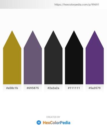 Palette image download - Dark Goldenrod – Dark Slate Blue – Black – Black – Dark Slate Blue