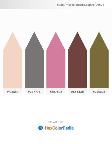 Palette image download - Pale Goldenrod – Gray – Pale Violet Red – Tomato – Dark Olive Green