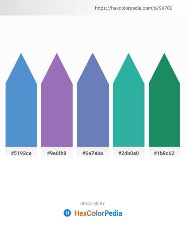 Palette image download - Steel Blue – Slate Blue – Steel Blue – Light Sea Green – Sea Green