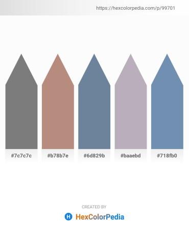 Palette image download - Gray – Rosy Brown – Light Slate Gray – Light Slate Gray – Cadet Blue