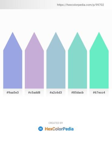 Palette image download - Light Slate Gray – Light Steel Blue – Light Steel Blue – Medium Aquamarine – Turquoise
