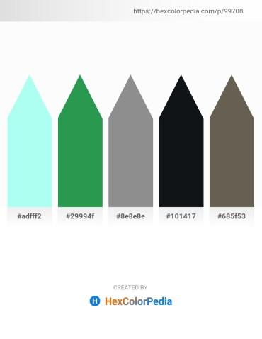Palette image download - Light Cyan – Sea Green – Gray – Light Salmon – Dim Gray
